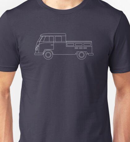VW Type 2 Twin Cab Blueprint Unisex T-Shirt