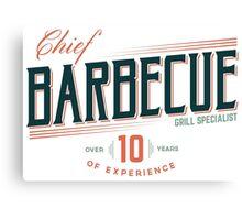 BBC Chef (Barbecue Specialist) Canvas Print