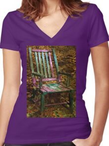 The Motley Chair Women's Fitted V-Neck T-Shirt