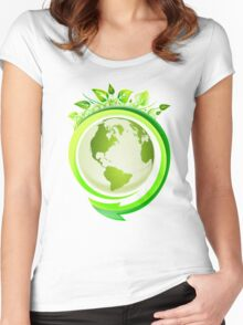 Three R's (Recycle, Reuse, Reduce) Women's Fitted Scoop T-Shirt