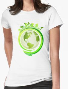 Three R's (Recycle, Reuse, Reduce) Womens Fitted T-Shirt