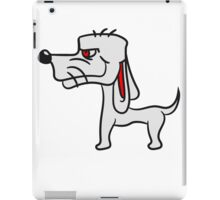 cool little funny dog with wig crazy sweet cute iPad Case/Skin