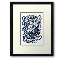 Doodle of the day II – blue version Framed Print