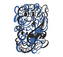 Doodle of the day II – blue version Photographic Print