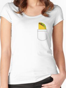 Pocket Full of Taco Women's Fitted Scoop T-Shirt