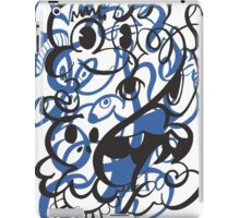 Doodle of the day II – blue version iPad Case/Skin