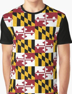 Floral Maryland Flag Graphic T-Shirt