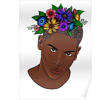 Flower man digital Poster