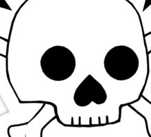 Death Before Decaf Skull Sticker