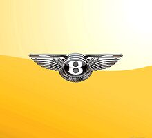 Bentley 3D Badge 2.0 on Yellow by Serge Averbukh