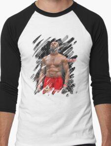 Jon Jones Splash Men's Baseball ¾ T-Shirt