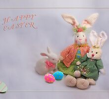 Happy Easter Bunnies by Kathy Weaver