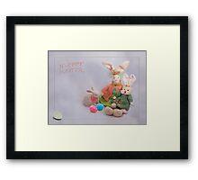 Happy Easter Bunnies Framed Print