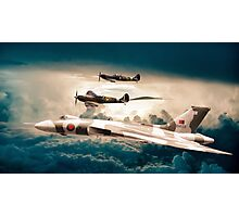 Vulcan and Spitfires in formation Photographic Print