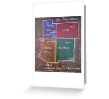 Four Corners Greeting Card