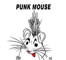 Punk Mouse Design Photographic Print