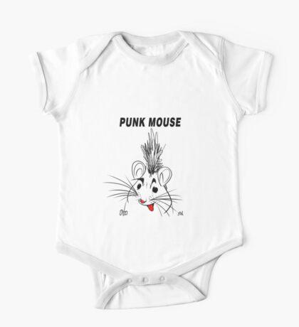 Punk Mouse Design One Piece - Short Sleeve