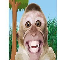 cheeky monkey in the jungle  Photographic Print