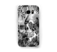 May showers, melting floral skull in grey Samsung Galaxy Case/Skin