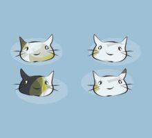 Four Kittens One Piece - Short Sleeve