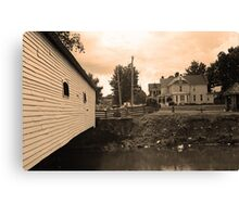 Elizabethton, TN, Covered Bridge and Mansion Canvas Print