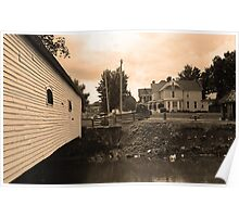 Elizabethton, TN, Covered Bridge and Mansion Poster