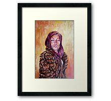 Lolo in Fur Framed Print