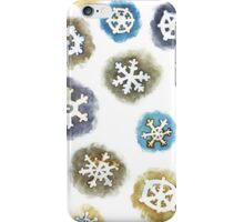 Watercolor Snowflakes Pattern iPhone Case/Skin
