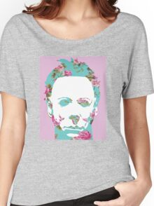 Halloween Floral Michael Myers Women's Relaxed Fit T-Shirt