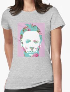 Halloween Floral Michael Myers Womens Fitted T-Shirt