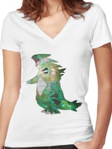 Tyranitar - Pokemon Women's Fitted V-Neck T-Shirt