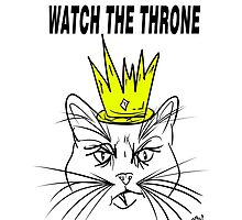 Watch The Throne- Cat Design by Vincent J. Newman