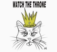 Watch The Throne- Cat Design Baby Tee