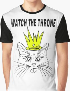 Watch The Throne- Cat Design Graphic T-Shirt