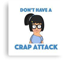 Tina Belcher - crap attack Canvas Print