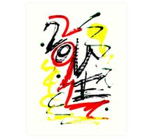 Love - Graffiti Design Art Print
