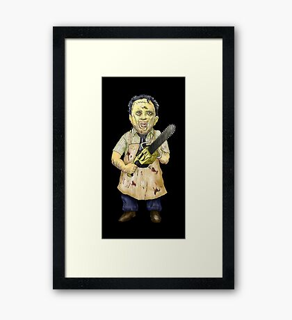 Leatherface Caricature Framed Print