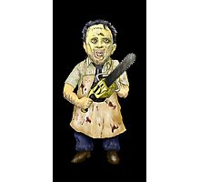 Leatherface Caricature Photographic Print