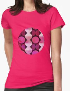 Round Red Womens Fitted T-Shirt