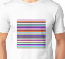 Ian's Stripey Inverse Red Unisex T-Shirt