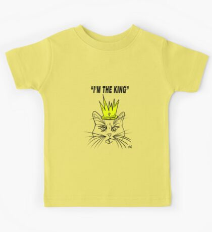 I'm The king - Cat Design Kids Tee