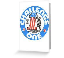 Vintage Challenge one Steve MC Queen Decal Greeting Card