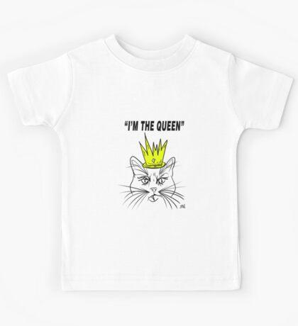 I'm The Queen - Cat Design Kids Tee
