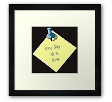 Memo: One Day At A Time: Realism Art Framed Print