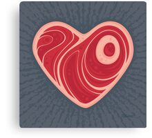Meat Heart Canvas Print