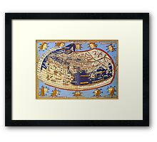 Map of the world 1492 - Claudius Ptolemy: The World Framed Print