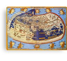 Map of the world 1492 - Claudius Ptolemy: The World Canvas Print