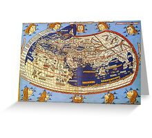 Map of the world 1492 - Claudius Ptolemy: The World Greeting Card