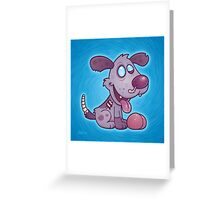 Zombie Puppy Greeting Card