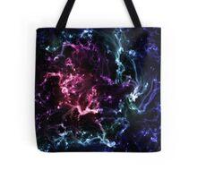 Pink & Blue Neon Galaxy Nebula Tote Bag